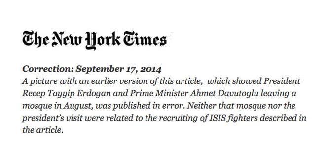 """""""New York Times"""" Ərdoğandan üzr istədi - FOTO"""