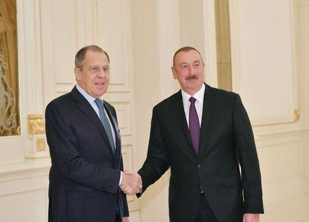 İlham Əliyev Lavrovu qəbul etdi