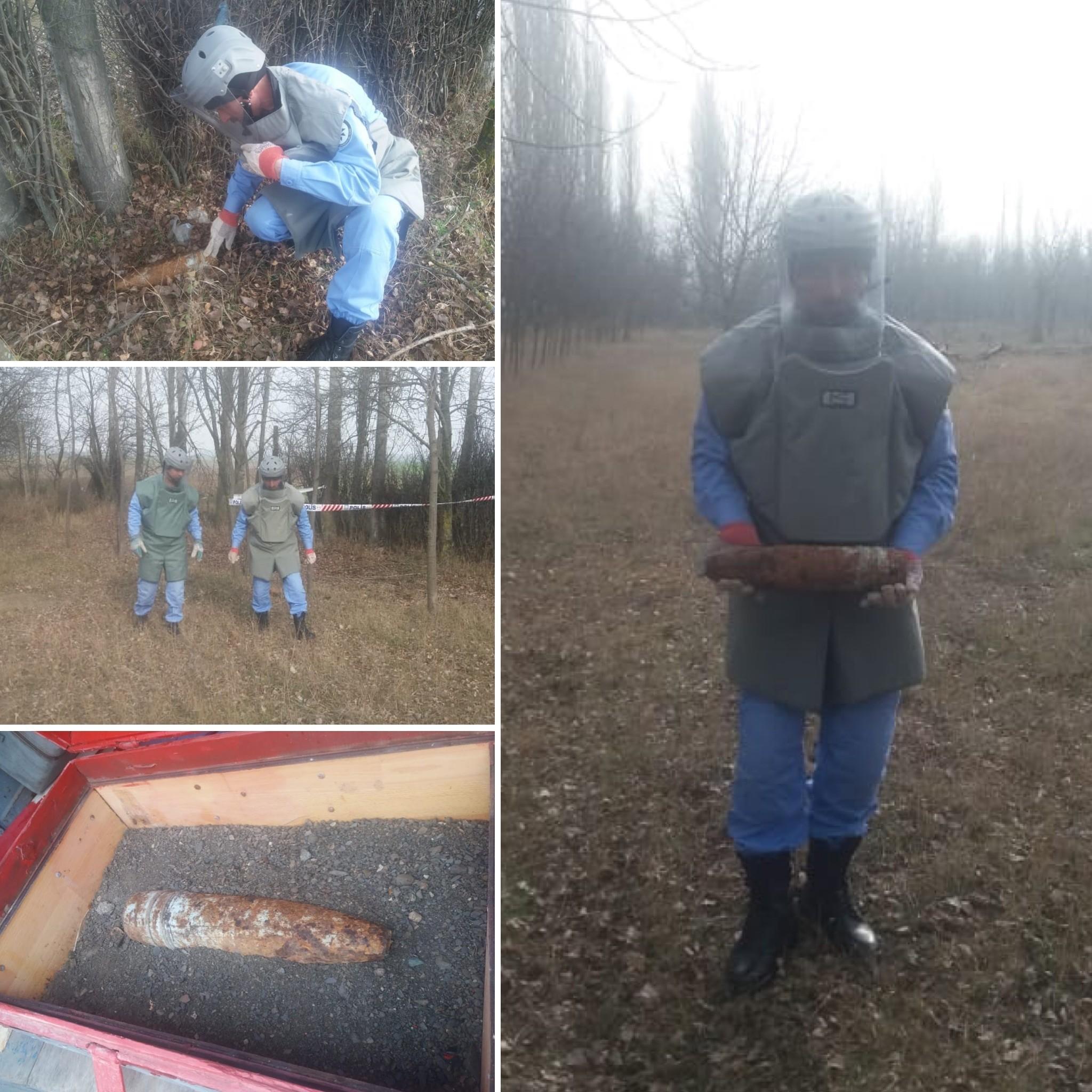 Goranboyda top mərmisi tapıldı