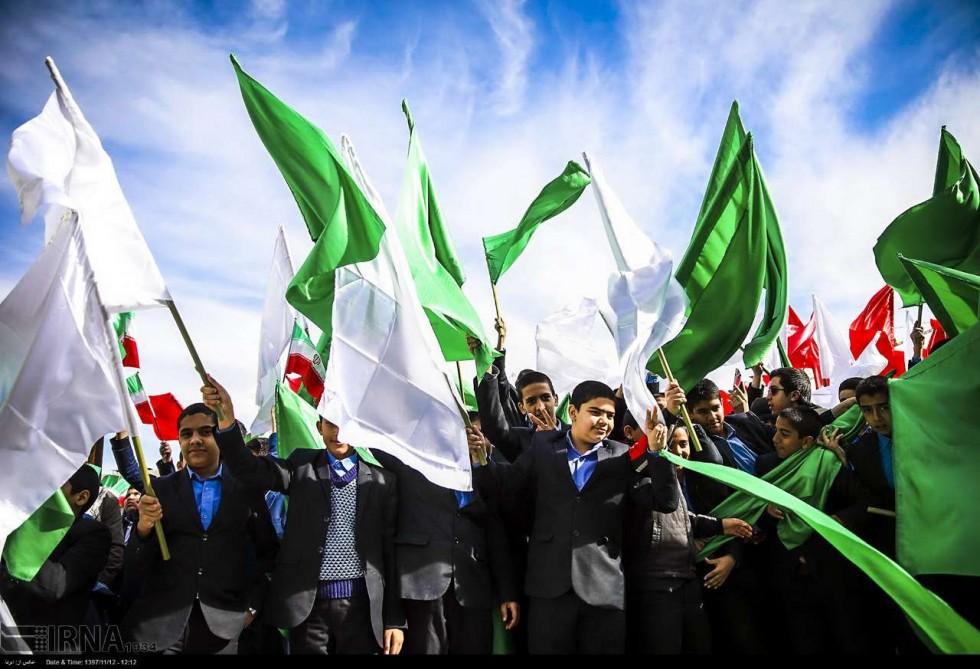 İran İslam İnqilabının 40-cı ildönümünü qeyd edir