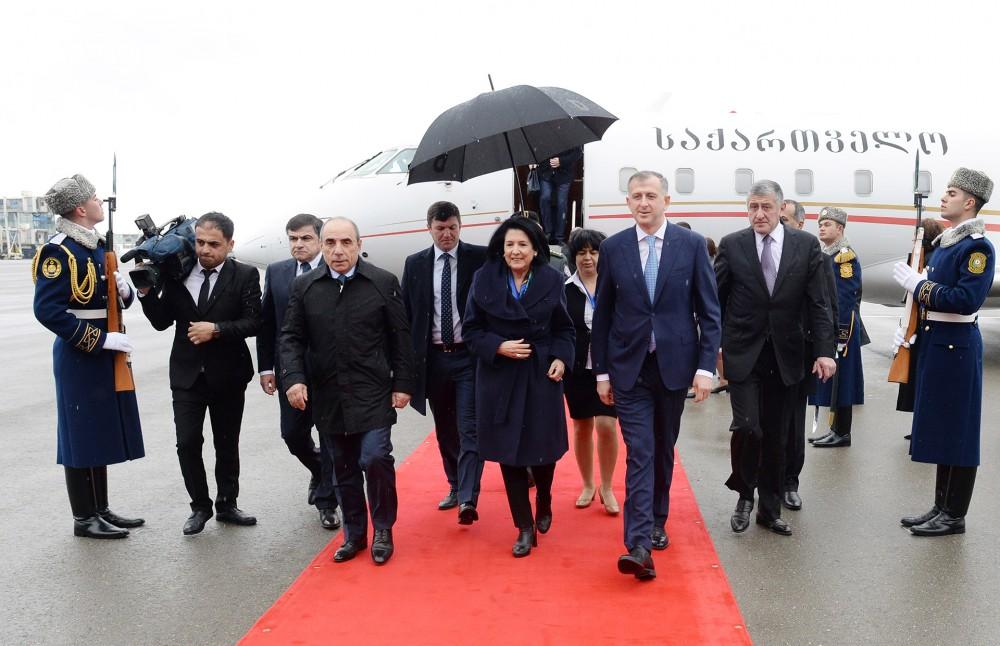 Gürcüstan prezidenti Azərbaycana gəldi