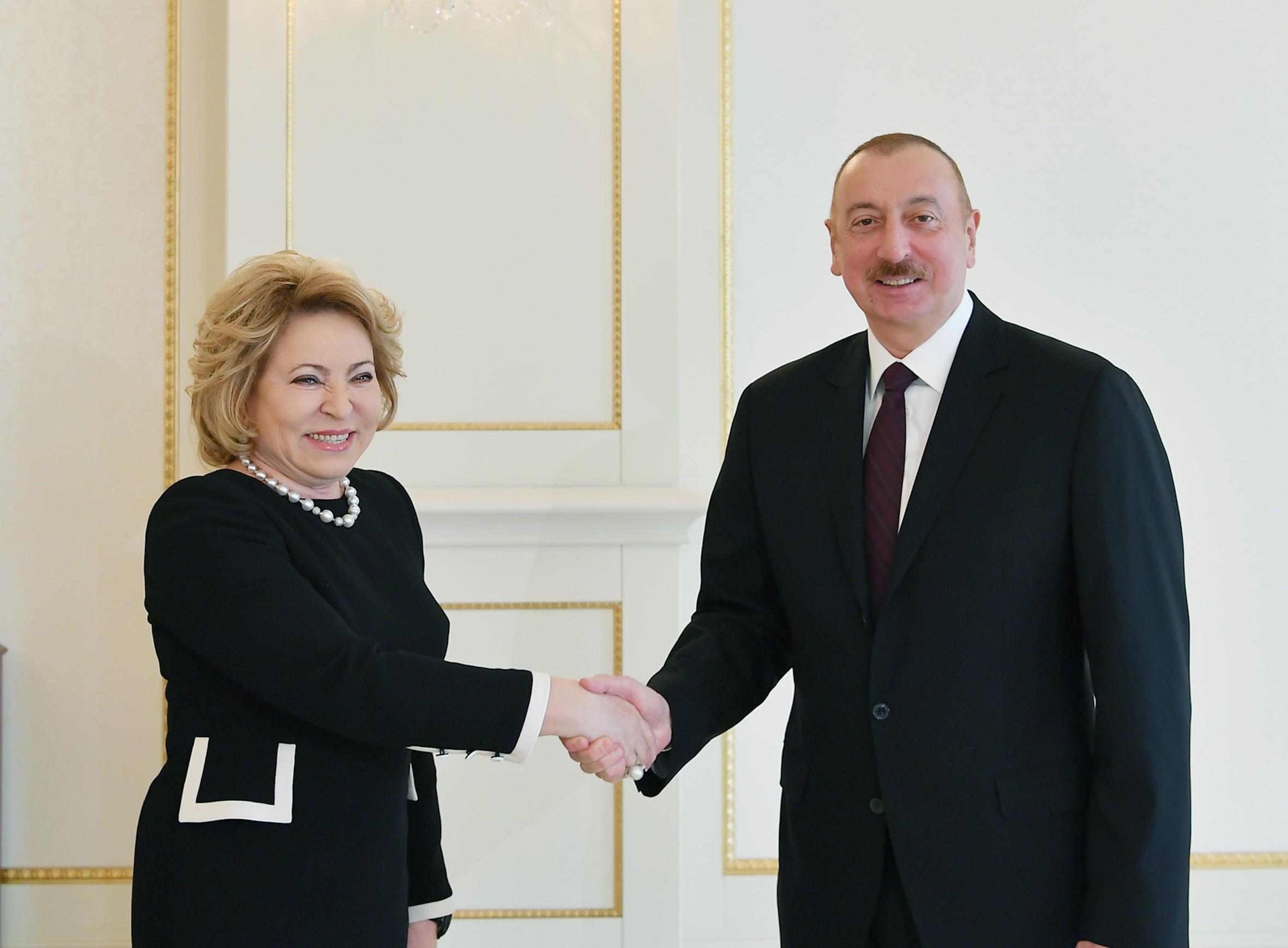 """Azərbaycan Prezidenti: """"Rusiya ilə əlaqələr çoxplanlıdır"""""""