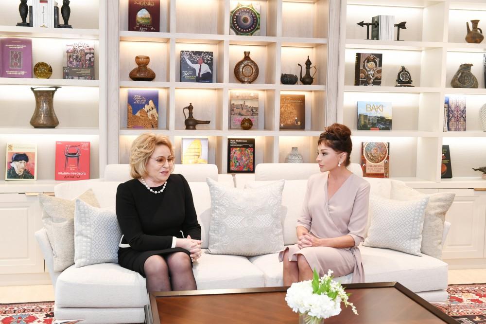Mehriban Əliyeva Valentina Matviyenko ilə görüşdü - FOTOLAR