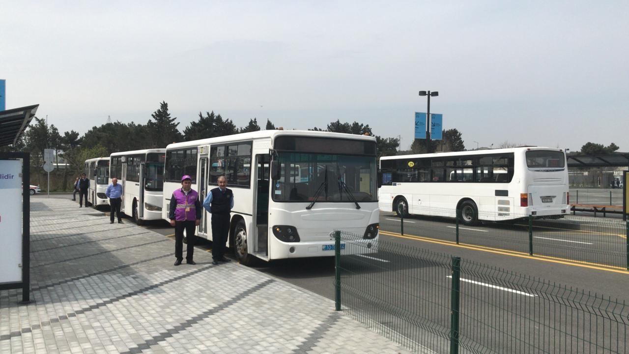 Bu avtobusların son dayanacaq məntəqəsi dəyişdirildi - FOTOLAR