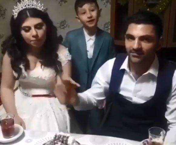 Azərbaycanda bəy və gəlinin bu görüntüləri hər kəsi güldürdü - VİDEO