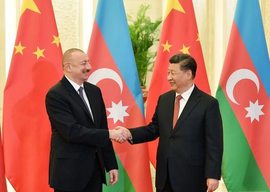 Azərbaycan Prezidenti və Çin Xalq Respublikasının Sədri görüşüblər -