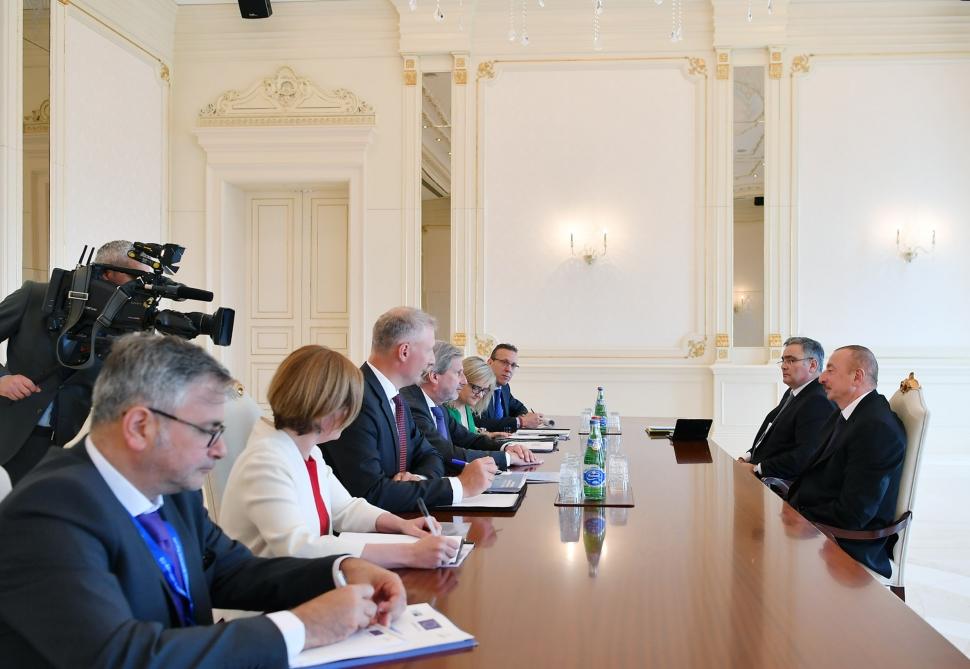 Prezident Avropa İttifaqı komissarını qəbul etdi