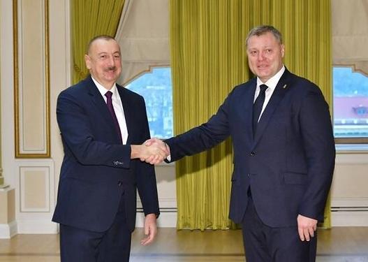 İlham Əliyev rusiyalı qubernatorla görüşdü