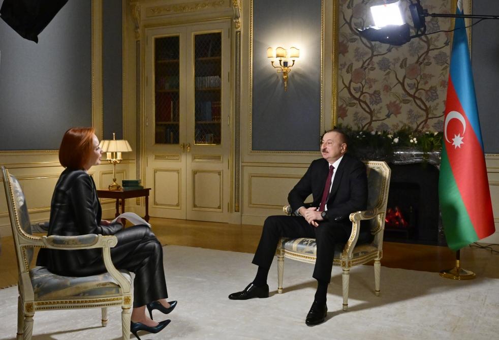 """Prezident İlham Əliyev """"Rossiya-24"""" televiziya kanalına müsahibə verdi"""